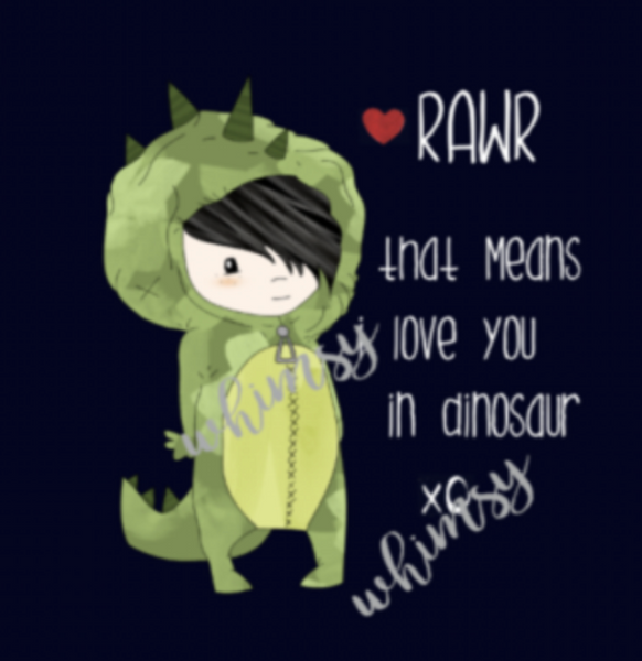 680 Rawr Means I Love You BOY Child Panel