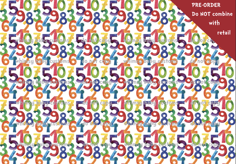 Feed Me Hungry Caterpillar Numbers Fabric