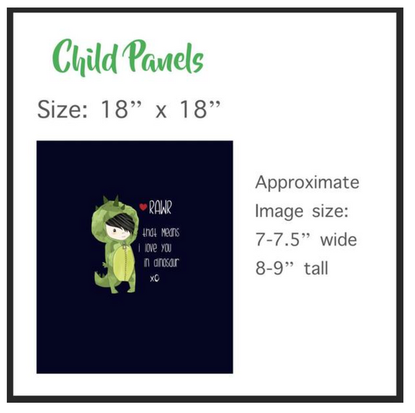 Christmas Moose with Ornaments Child Panel