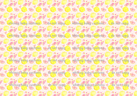Pink Lemonade Swim Fabric