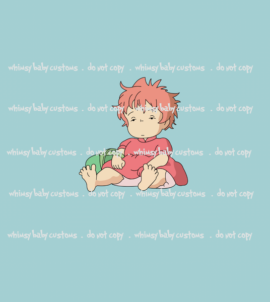C090 Sleepy Ponyo Child Panel