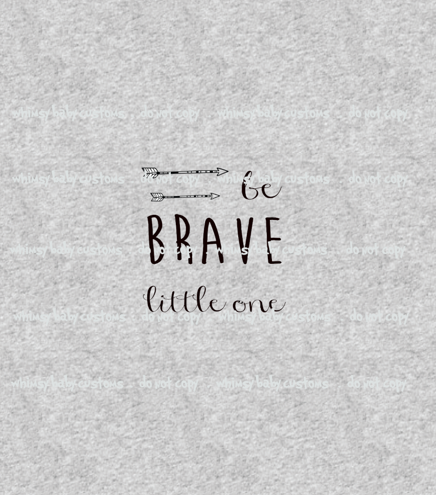 334H Be Brave Little One (Two Arrows) Child Panel (on HEATHER GREY)