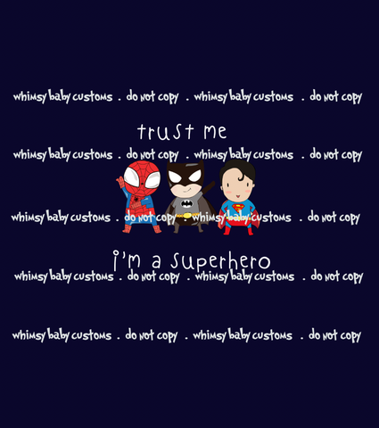 736 Trust Me I'm a Superhero Child Panel on Navy