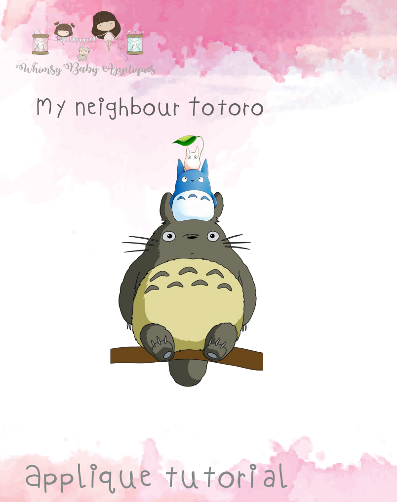 My Neighbour Totoro Applique Tutorial Only