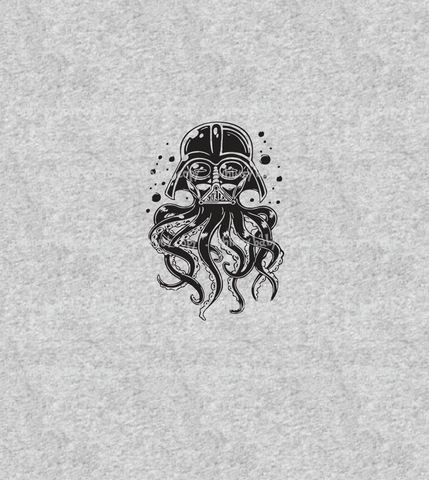 A1084H Adult/Romper Panel Kraken Darth Vader on HEATHER