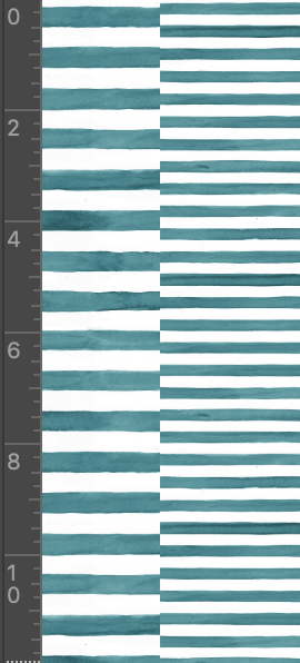 Watercolour Stripes Teal