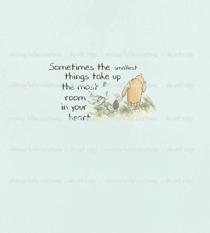 July/Aug 2020 Preorder - Child Panel Winnie de Pooh Sometimes the Smallest Things ON CL