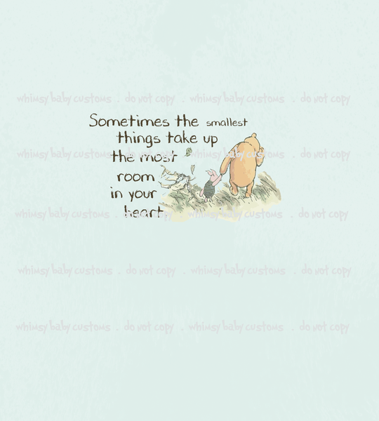 883 Child Panel Winnie de Pooh Sometimes the Smallest Things ON CL