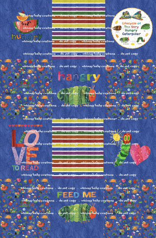 Fluff 2020 Preorder- Lazy Quilt The Hungry Caterpillar Blue