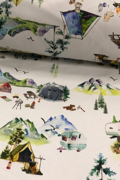 Fabric Watercolour Camping