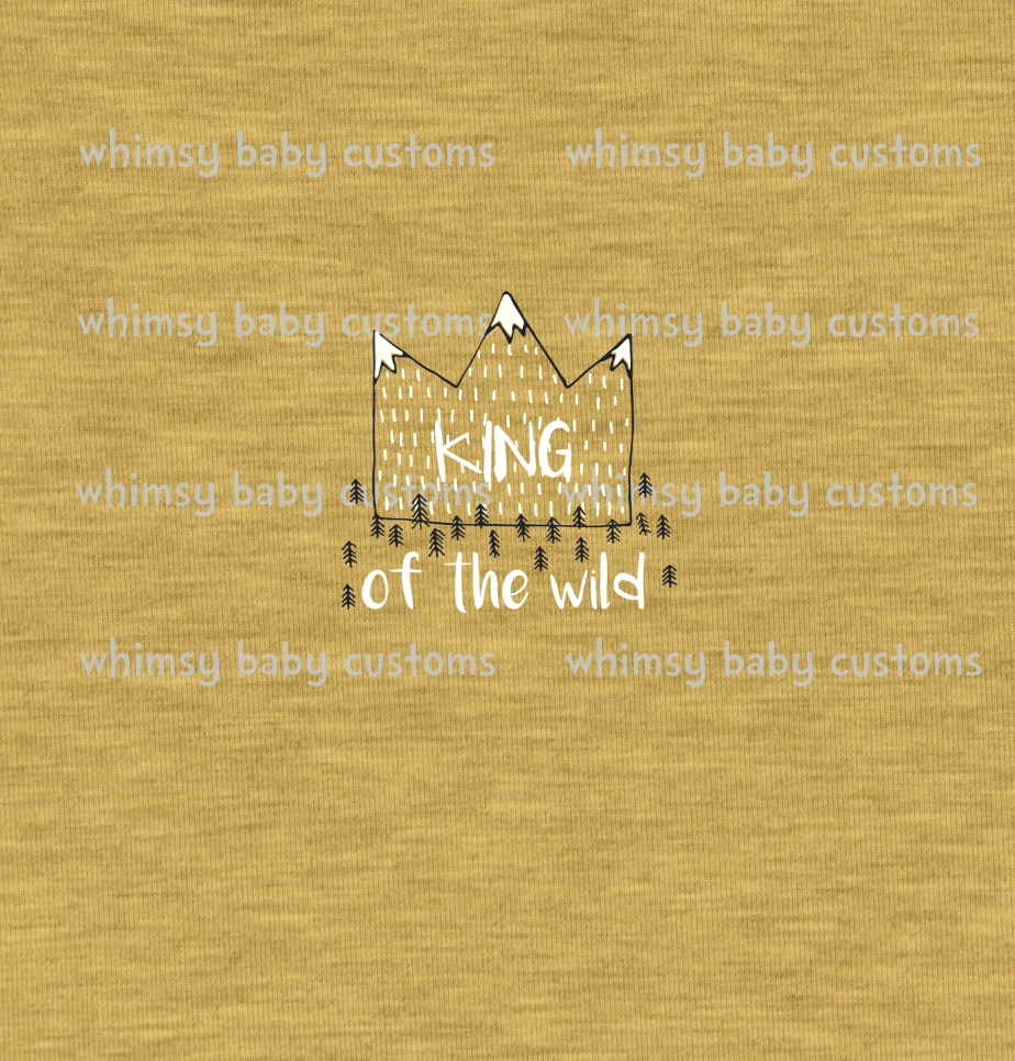 305 Child Panel King of the Wild on Faux Heather Mustard
