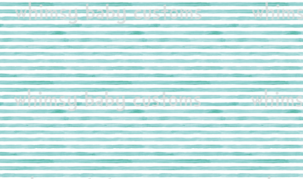 Perfect Spring Day Seafoam Blue / Green Stripes