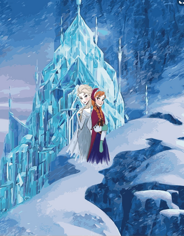 C004 Frozen 2: Elsa and Anna Full Panel Ice Mountain