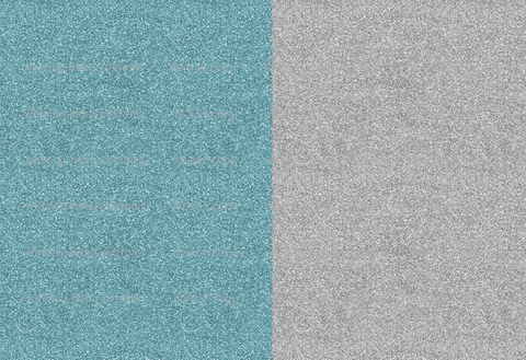 Nov/Dec 2019 Preorder - Fabric Frozen Turquoise and Silver Glitter Half and Half ON VARIOUS BASES