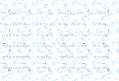 Cold Sisters 2: Whimsical Snowflakes (Cotton Lycra)