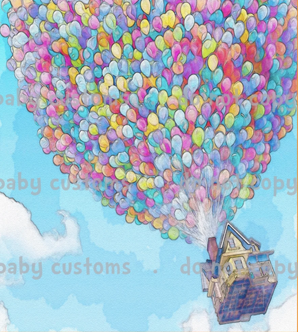 Feb/March 2020 Preorder - Child Panel House with Balloons