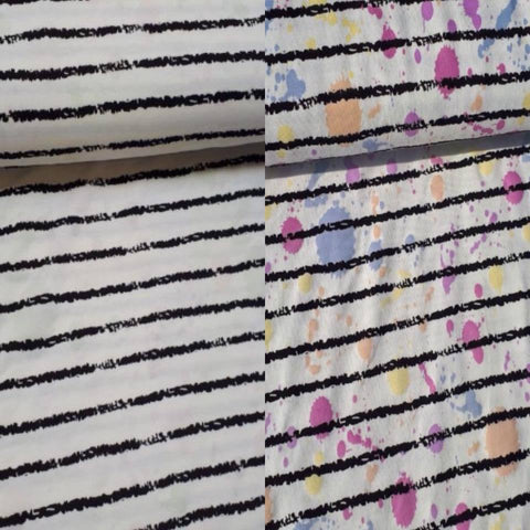 Colour Changing Fabric - Stripes