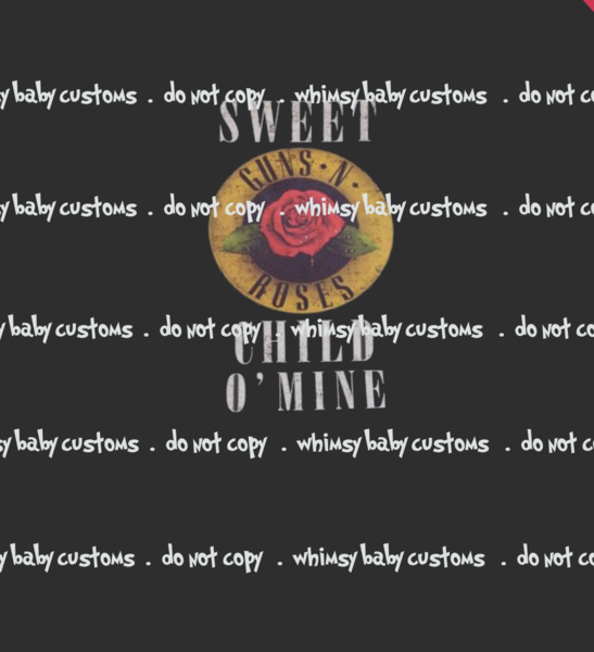 A1087 Guns and Roses Sweet Child of Mine Adult/Romper Panel