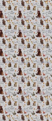 Fabric There is No Such Thing as a Gruffalo on HEATHER