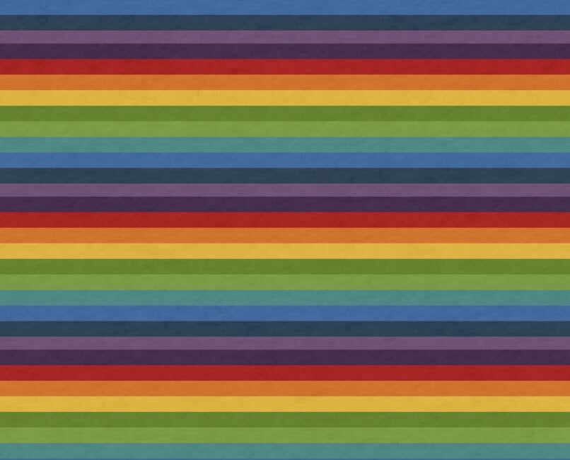Fabric - Classic Rainbow Stripes on Heather