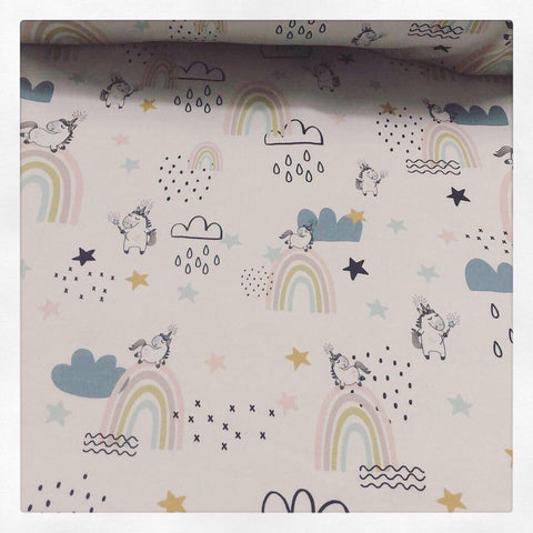 Fabric Follow your Rainbow (Unicorns and Rainbows)