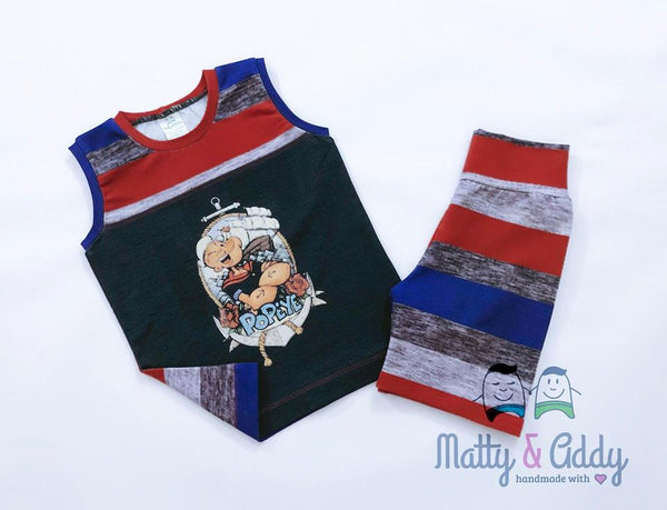 1092 Popeye Adult / Romper Panel