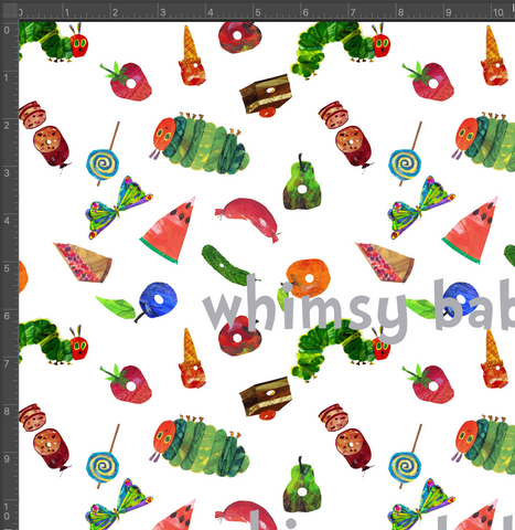Hungry Caterpillar Food 2020 Fabric on Woven