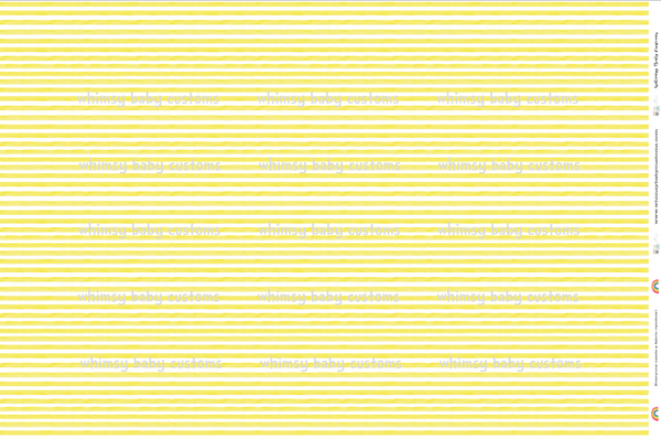 Watercolour Stripes Yellow