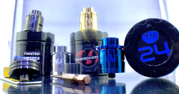 Twisted Messes TM24 Pro Series RDA (Authentic) Rebuildable Drip Atomizers - Blue Vapes Canada
