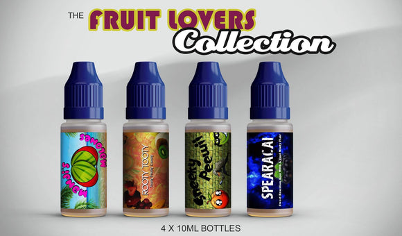 Fruit Lovers Collection 40ml  Sampler Pack - by Blue Vapes E-Liquid - Blue Vapes Canada