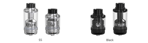 VandyVape Kylin RTA Rebuildable Tank Atomizers - Blue Vapes Canada