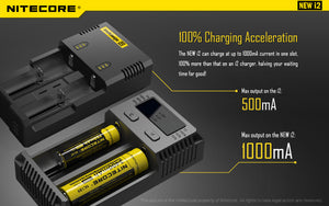 Nitecore i2 Battery Charger Battery Charger - Blue Vapes Canada