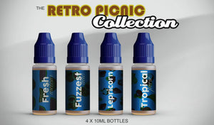 Retro Picnic Collection 40ml Sampler Pack - by Blue Vapes E-Liquid - Blue Vapes Canada