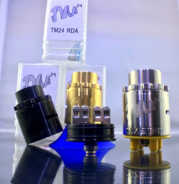 Twisted Messes TM24 Pro Series Styled RDA Rebuildable Drip Atomizers - Blue Vapes Canada