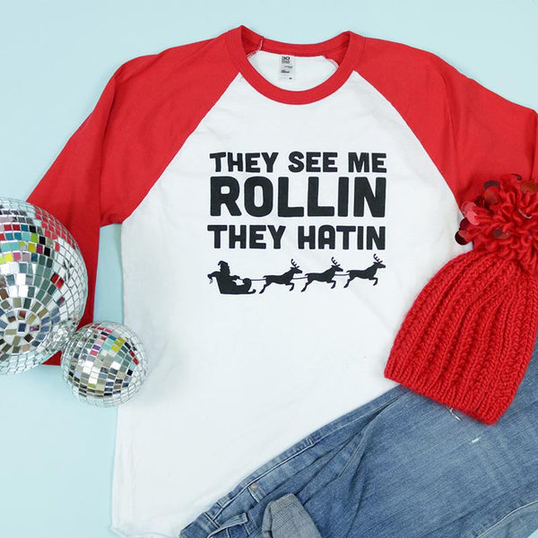 They See Me Rollin Adult Unisex Raglan