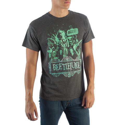 Beetlejuice Men's Charcoal Heather T-Shirt