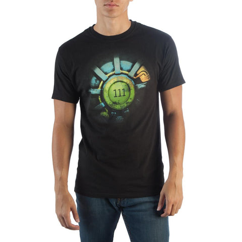 Fallout 111 Mens Black T-Shirt