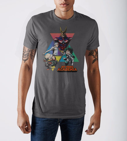 My Hero Academia Triangles Gry T-Shirt