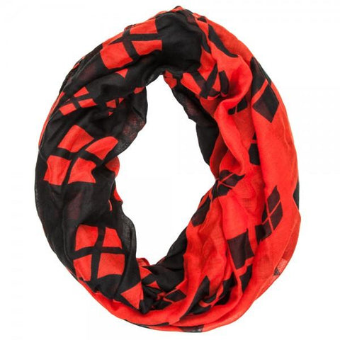 Batman Harley Quinn Color Block Infinity Viscose Scarf