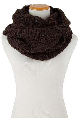 Chocolate Lover's Knit Infinity Scarf