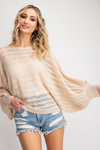 Count On Me Pointelle Sweater