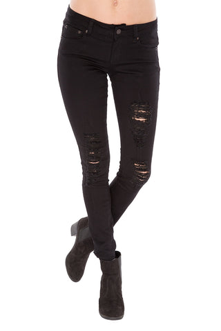 Emilee Distressed Black Denim Jean