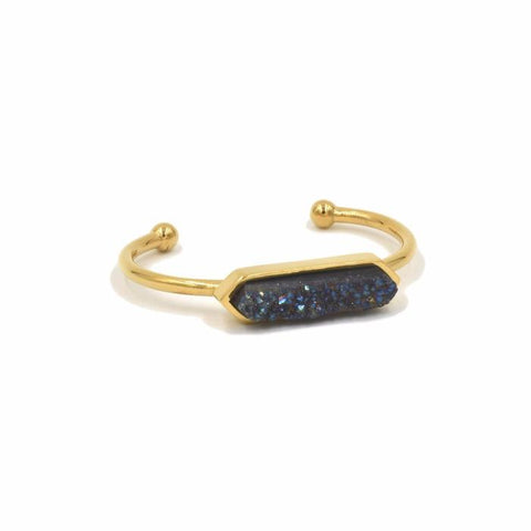 Kinsley Armelle Bangle Collection - Raven Quartz Bracelet