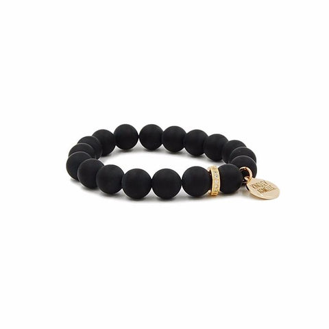 Kinsley Armelle Eternity Collection - Coal Bracelet