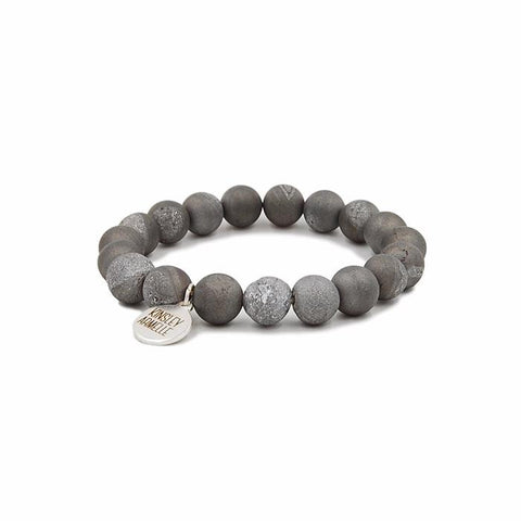 Kinsley Armelle Geode Collection - Frost Silver Bracelet