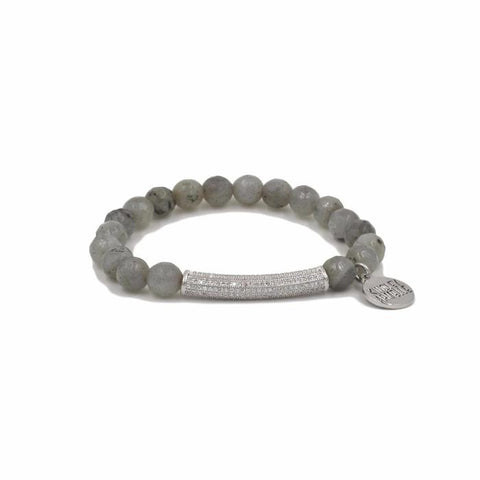 Z-Kinsley Armelle Glitz Collection - Silver Haze Bracelet