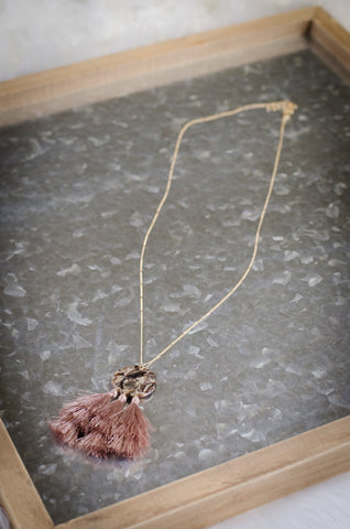 Z-Marble and Tassle Necklace