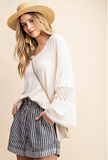 Once In A Lifetime Bell Sleeve Top