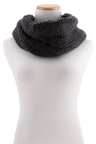 Simple Knit Infinity Scarf
