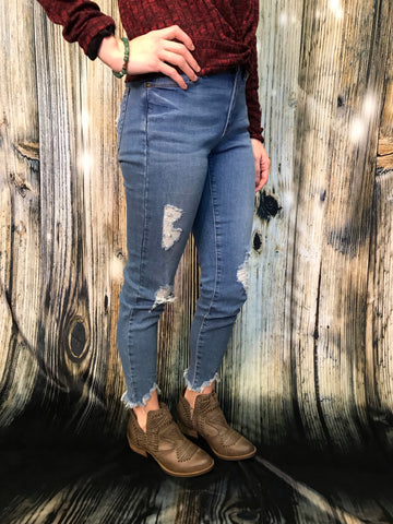 Ava Distressed Cropped Jean